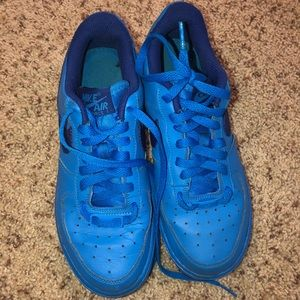 Blue Air Force ones women's 7